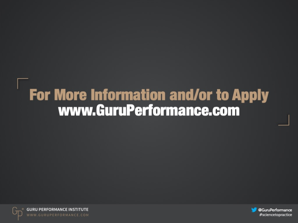 Course Overview | Guru Performance Institute