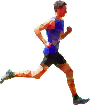 Stylized image of male runner