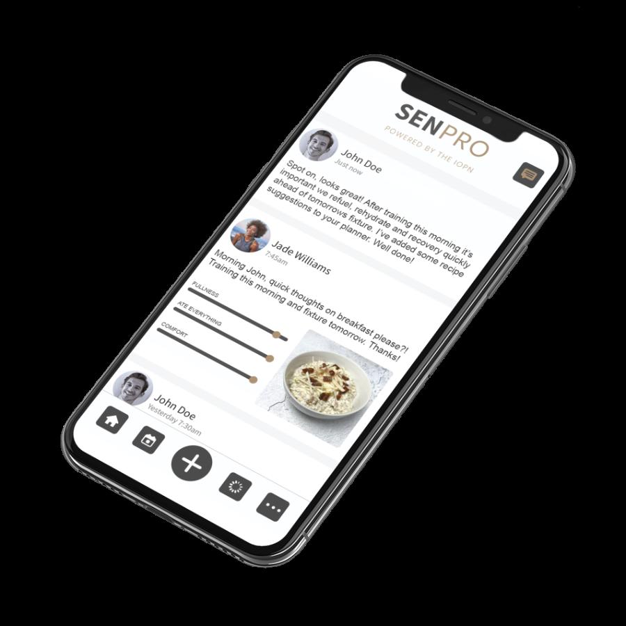 SENPRO app dashboard on iPhone